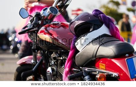 Krachtig motor moderne motorfiets vuile sport Stockfoto © RuslanOmega