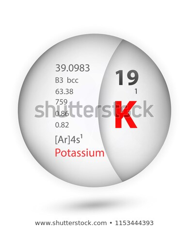 symbol for the chemical element potassium stock photo © zerbor