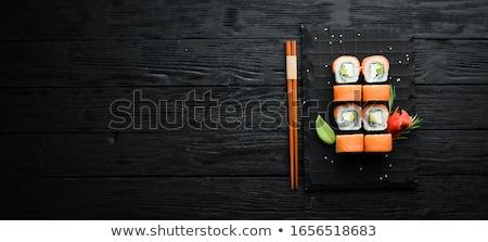 свежие суши лосося белый продовольствие Сток-фото © taden