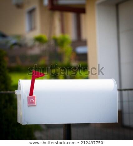 mailbox · hek · grijs · sparren · plank · interessant - stockfoto © ra2studio