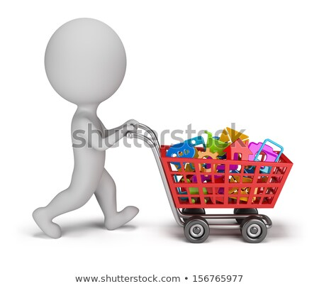 3d small people - purchased applications Stock photo © AnatolyM