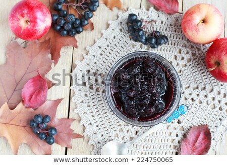 Black chokeberry jam Stock photo © inxti