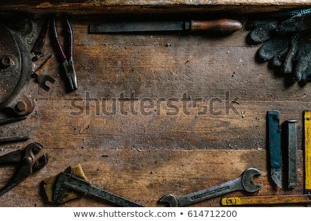 Oude roestige beitel geïsoleerd witte Stockfoto © designsstock