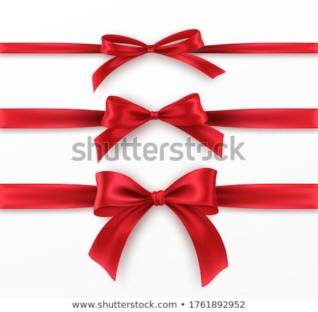 Beyaz kutu kırmızı yay yalıtılmış kalp Stok fotoğraf © tetkoren