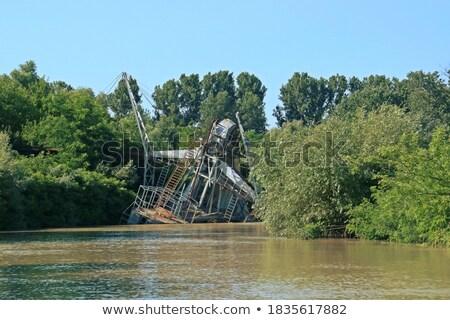 boot · oude · water · zee · meer · kabel - stockfoto © dutourdumonde