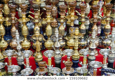 narguileh shisha water pipes detail in cairo egypt Stock photo © travelphotography