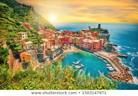 quadro · famoso · aldeia · casa · edifício · paisagem - foto stock © Stootsy