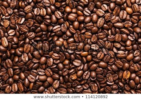 Sötét tele pörkölt kávé textúra gyártmány Stock fotó © stryjek