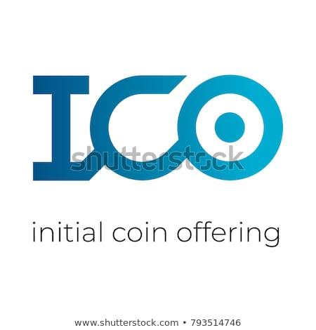 Bitcoin logo woordwolk witte geld internet Stockfoto © seiksoon