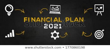 Pénzügyi tervezés sötét digitális szöveg kék szín Stock fotó © tashatuvango