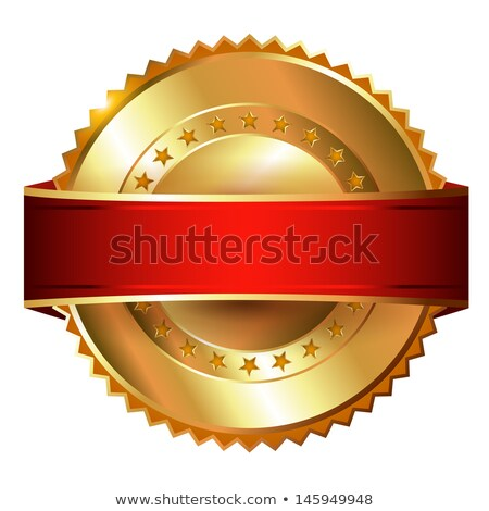 blank golden guarantee label stock photo © burakowski