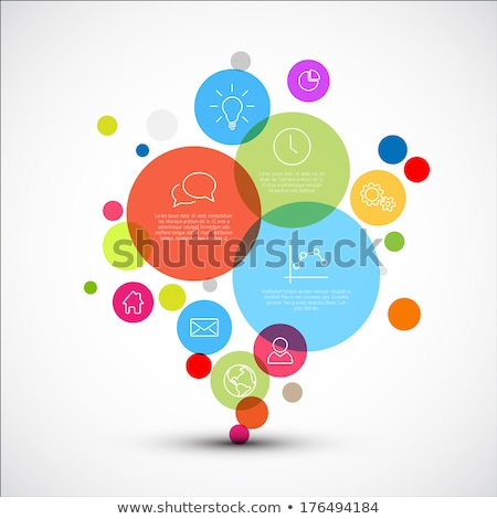 vector diagram infographic template with various descriptive icons stock photo © orson