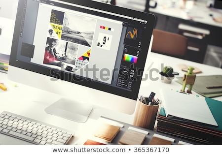 интеллектуальный · дизайна · аннотация · фон · науки · промышленных - Сток-фото © lightsource