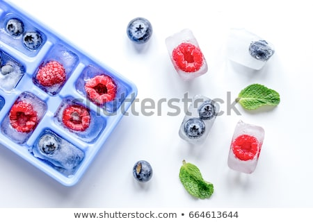 Ice cube with blueberries Stock photo © Givaga