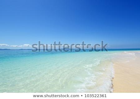 熱帯ビーチ · 青空 · 太陽 · 自然 · 背景 · 美 - ストックフォト © shihina