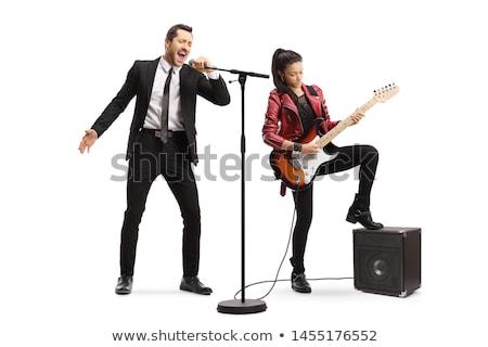 два изолированный белый голосом технологий фон Сток-фото © diabluses