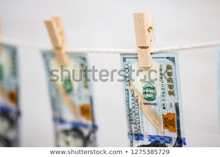 dollar · wasknijper · lijn · kleding · financieren · bank - stockfoto © stevanovicigor
