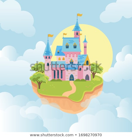 Fairy-tale castle on white background  vector illustration  Stock photo © carodi