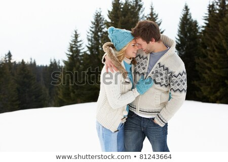 高山 雪 シーン カップル 女性 ストックフォト © monkey_business