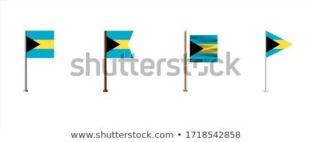 Bahamas pequeno bandeira mapa foco fundo Foto stock © tashatuvango