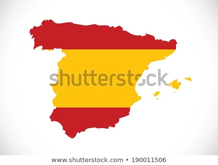 spain flag and map Country shape idea design Stock photo © kiddaikiddee