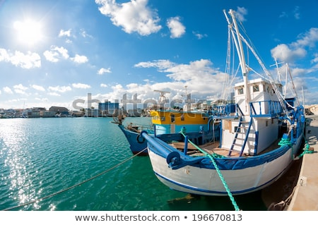 Old fishing boat in Limassol harbour. Cyprus stock photo © Kirill_M