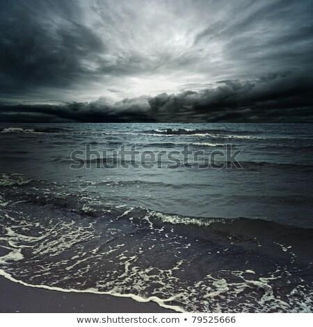 嵐の 雲 暗い 海 タイ 水 ストックフォト © Witthaya