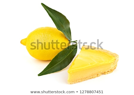 Stock photo: Slice of delicious lemon cheesecake