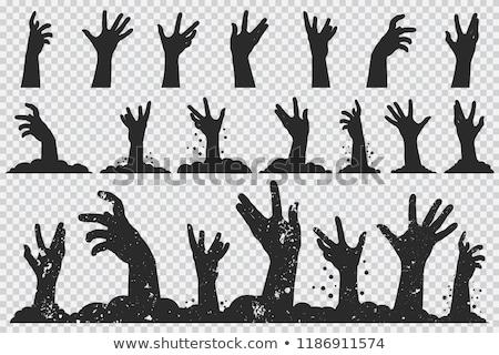 cartoon zombie hands set for horror design stock photo © voysla