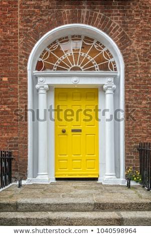 yellow georgian door in dublin ireland stock photo © mady70