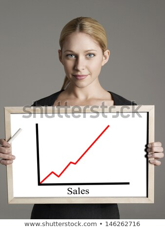 Woman Viewing Ascending Graph Stock photo © InTheFlesh