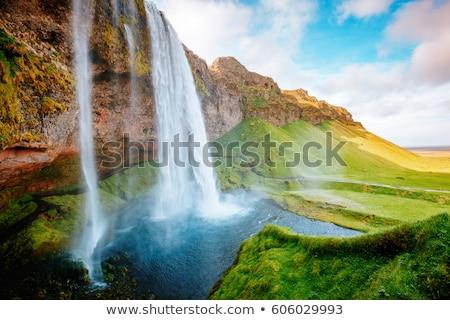 Dramatyczny duży parku Wisconsin wodospad Zdjęcia stock © wildnerdpix