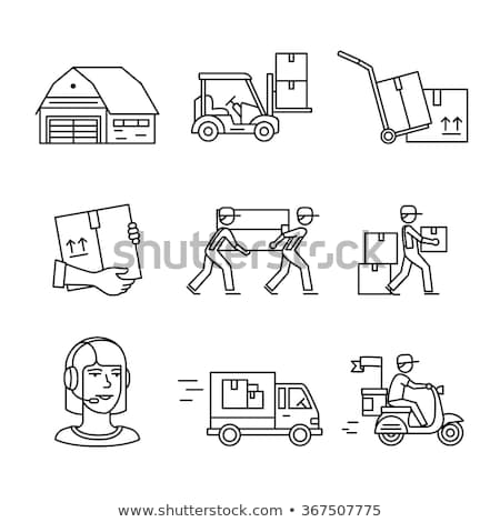 Vector Lorry Icons Set 2 Stock photo © dashadima