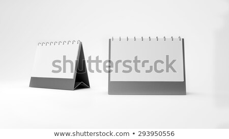 silver metallic desk calendar stock photo © Krisdog