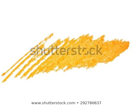 Citromsárga pasztell zsírkréta folt izolált fehér Stock fotó © gladiolus