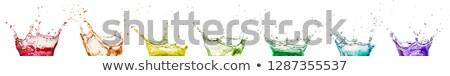 Set mehrfarbig Tröpfchen isoliert weiß Illustration Stock foto © smeagorl