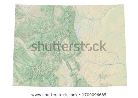 Mapa Colorado papel fundo viajar cartão Foto stock © rbiedermann