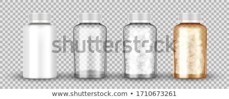 Medicina laranja pílula garrafa pílulas Foto stock © tangducminh