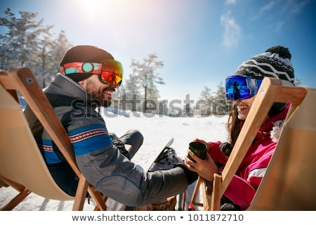 Stock photo: Smiling girl after skiing