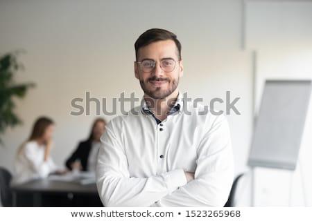 Portret vertegenwoordiger zakenman permanente man werk Stockfoto © deandrobot