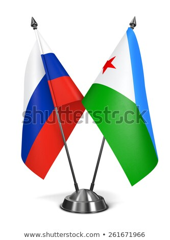 Russia and Djibouti - Miniature Flags. Stock photo © tashatuvango