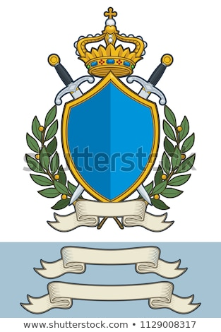 comic cartoon heraldry scroll banner Stock photo © lineartestpilot