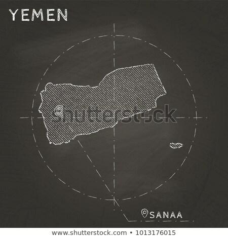республика Йемен вектора изображение карта флаг Сток-фото © Istanbul2009