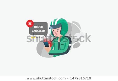 Ordem carrinho ícone vetor imagem lata Foto stock © Dxinerz