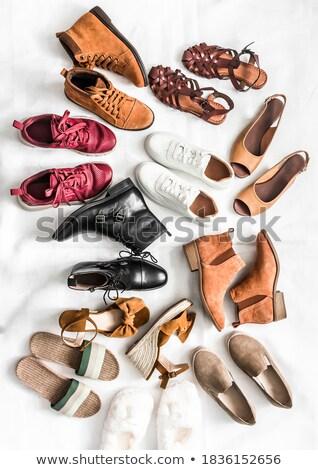 pánt · cipő · választék · szett · izolált · fehér - stock fotó © cteconsulting