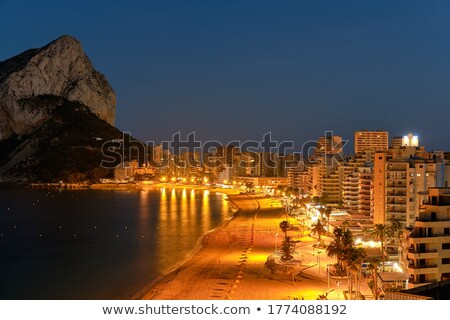 Promenade nacht schilderachtig hemel toerisme kust Stockfoto © meinzahn