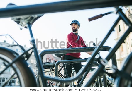 Modern bike in urban parking Stock photo © ifeelstock