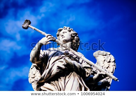 statue Potaverunt me aceto on bridge Castel Sant' Angelo, Rome Stock photo © vladacanon