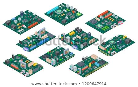 Circuit isométrique vue technologie fond Photo stock © vtls