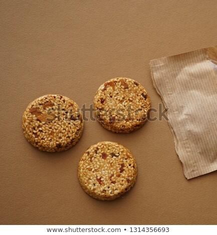 Cioccolato croccante cookies sesamo Foto d'archivio © dariazu